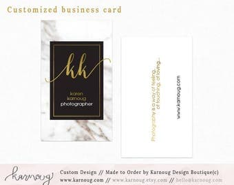 Marble Business Card|Instant Business Cards|Photography Business Cards|Custom Business Cards|Printable Business Cards|Watercolor|Printable