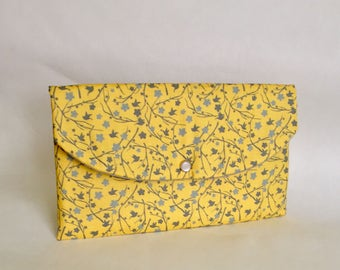 Gray yellow wedding,Bridal party gifts,Bridesmaid gifts,gray yellow clutch, moms gift ideas