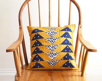 Flock Sewing Pattern - Quilt Pieced Envelope Back Pillow Pattern