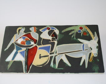 Large Helmut Schäffenacker tile made in the 1950's