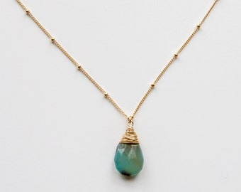 Gold Filled Chalcedony Necklace