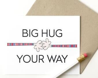 Empathy Card. Sympathy card for friend. Big hug card for friend. I'm thinking of you card. Wholesale cards.