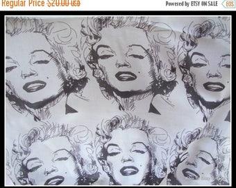 ON SALE Marilyn Monroe scarf, long scarf, Lengyel scarf, luxurious, long scarf,vintage scarf,  black and gray, artist design, Marilyn Monroe