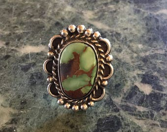 NAVAJO Ring TURQUOISE STERLING Silver New