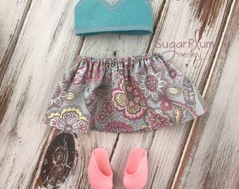 Cloth Doll Outfit - Fabric Doll - Dress Up Doll - Handmade Doll - Rag Doll - Room Decor - Heirloom Doll