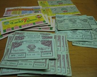42 vintage pennsylvania lottery tickets pa 1972 1973 1974 72 73 74