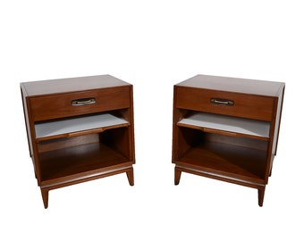 Night Stands Walnut Mid Century Modern