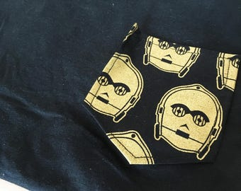 3PO Droid Tee Pocket