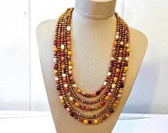 Autumn Sparkle Statement Necklace