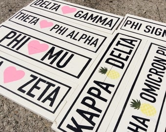Sorority Name Wood Sign, Kappa Delta Sign, Phi Mu Sign, Delta Gamma Sign