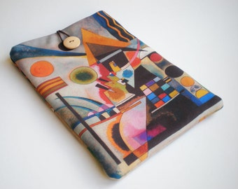 iPad mini sleeve, iPad mini case, Kindle sleeve,  Kindle Fire, mini Tablet case, Kandinsky art, Galaxy Tab sleeve, eReader case, Kobo Glo