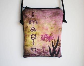 Shoulder bag, crossbody bag, printed bag, little bag,