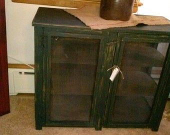 Double Door Pie Safe Table / Side Table / flat screen tv table