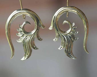 Brass ear wights Floral style, body jewelry, code