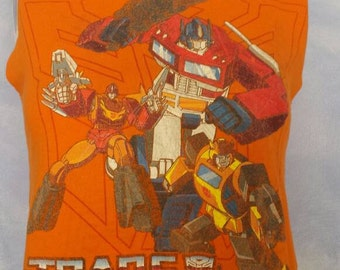 Orange Transformers Glow in the Dark Tank Top Size Small/Medium
