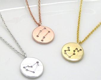 Zodiac Constellation Choker • Celestial Choker•Zodiac Necklace•Constellation Jewelry•Star Sign Choker Necklace• Silver Gold Rose Gold Choker