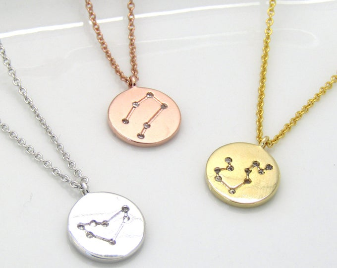 Featured listing image: Zodiac Constellation Choker • Celestial Choker•Zodiac Necklace•Constellation Jewelry•Star Sign Choker Necklace• Silver Gold Rose Gold Choker