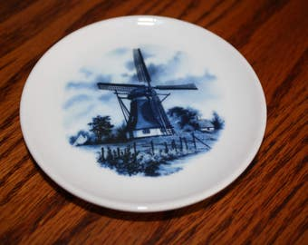 "Delft Blauw ""Blue"" Hand Decorated Plate- made in Holland"