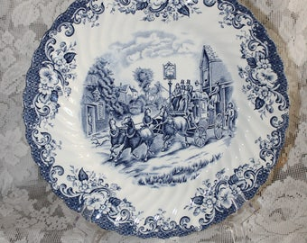 """Vintage Johnson Brothers """"Coaching Scenes"""" Plate made in England"""