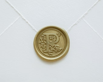 P letter wax seal
