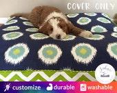 Rectangle Dog Bed Cover - You Choose Size - Small, Medium, Large, Extra Large - Custom Sizes available