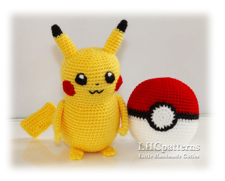 Amigurumi Patterns Pikachu : Crochet pikachu pokemon pattern pokeball crochet pattern pokemon