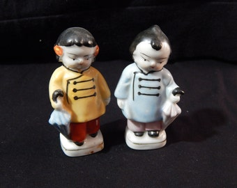 Vintage Boy and Girl Figurine Made in Japan