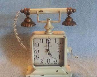 Clock - Telephone Shaped Clock - Curiosity Clock