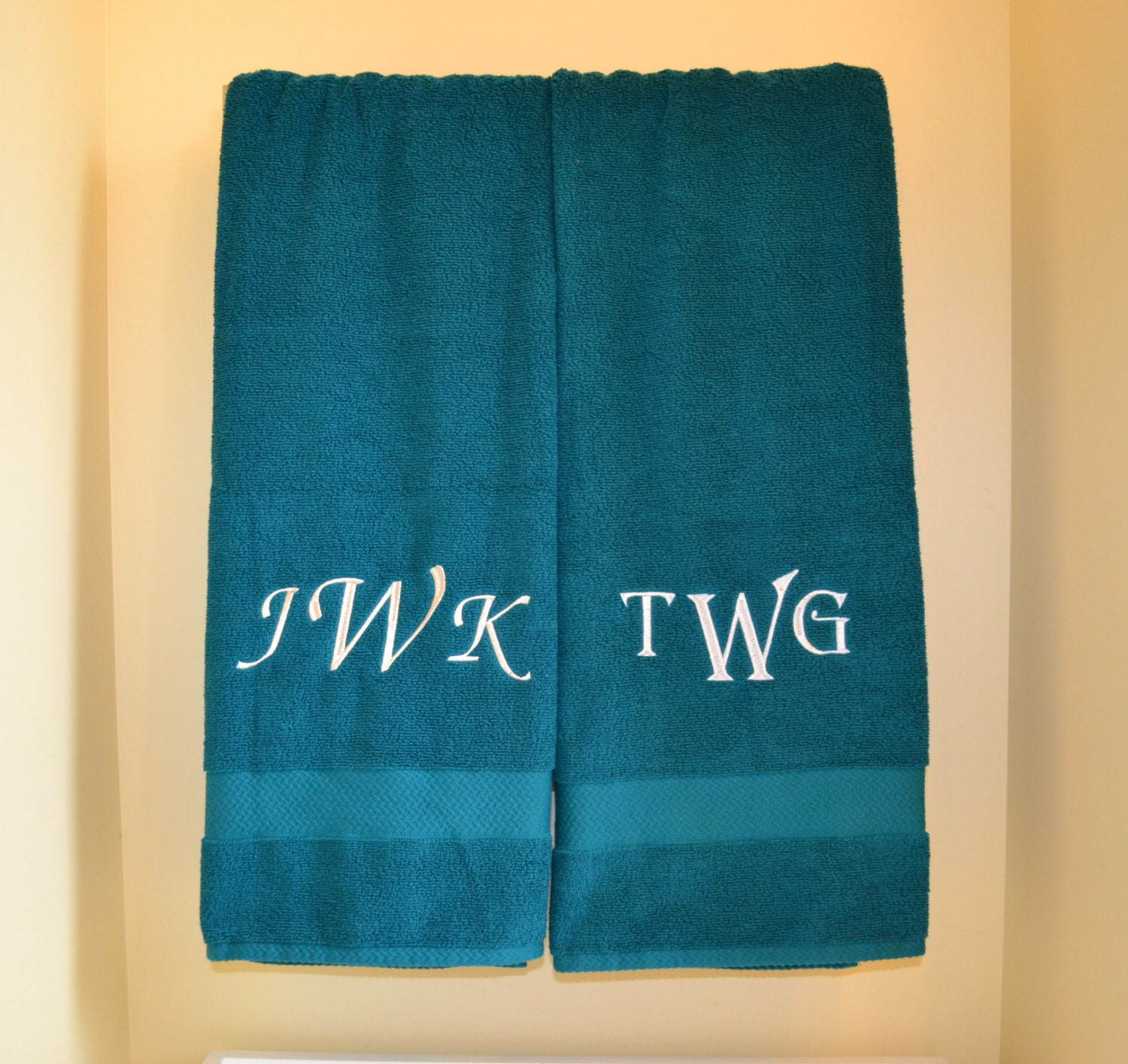 Embroidered Towels For Wedding Gift