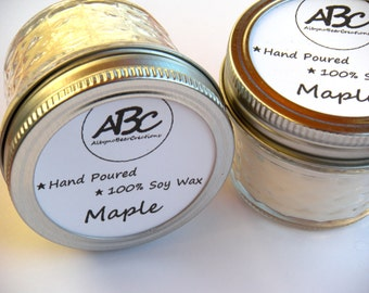 Scented Soy Candle - Maple