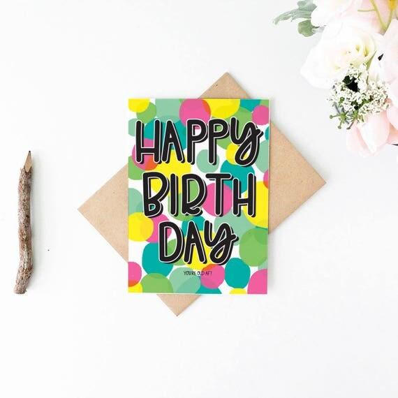 Funny Birthday Card Funny Birthday Card For Mom Old Af Birthday