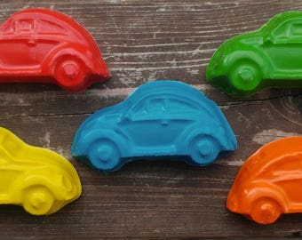 Car Crayons set of 5 - Party Favors - Classic Cars - Cars Party