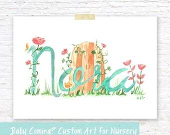 PREORDER: Custom Nursery Children's Room Artwork Illustration | Baby Shower Gift