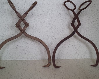 Your Choice Rustic Iron Ice Tongs