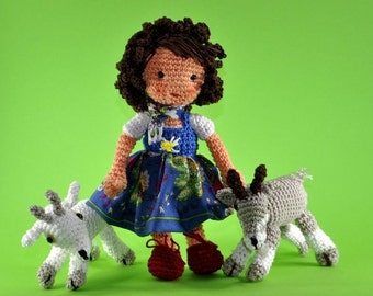 Doll Heidi Amigurumi crochet pattern