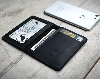 personalized leather wallet minimalist wallet leather front pocket wallet bifold wallet slim wallet mens wallet for men thin wallet for him