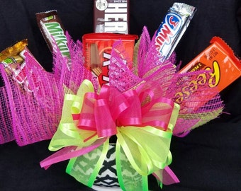 Candy bouquet in container Ready to ship