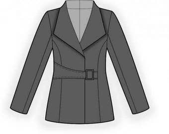 Lekala 4530 - Jacket Sewing Pattern PDF Download, Free Made