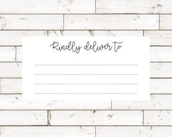 Kindly Deliver To- Shipping Label 2x4
