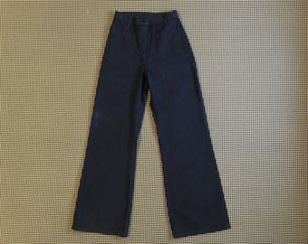 1970's,  wide leg, Women's Utility Jeans, Women's size Small/Medium