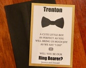 Will You Be Our Ring Bearer Card with Envelope