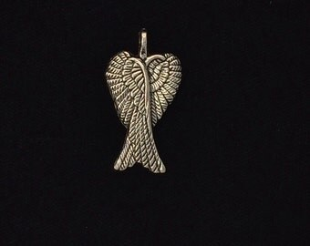 12 pieces, Angel wing charm, angel wings charms, Silver wing charms 30x16mm antique silver finish 24-12-AS