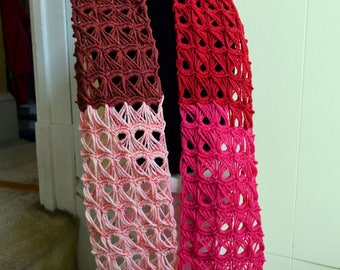 Broomstick Lace Scarf - Handmade - Crocheted - Neckwarmer - Ready to ship