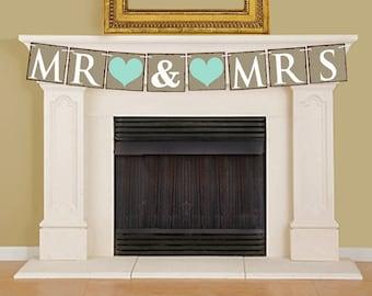 MR & MRS Banner, DIY Printable Banner Bunting - 16006