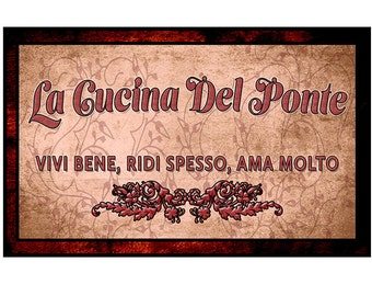Fine Art, Italian Language of your choice Decor For Your Home. 16 by 10 inches or 20 by 12.5 inches. 2 versions