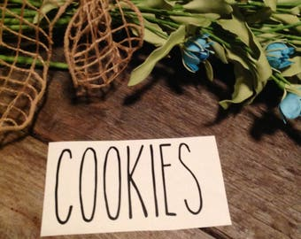 Inspired Rae Dunn Cookies decal