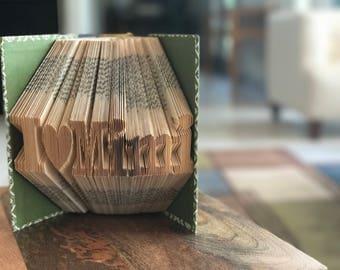 I Love Mimi Folded Book - Grandmother Gift