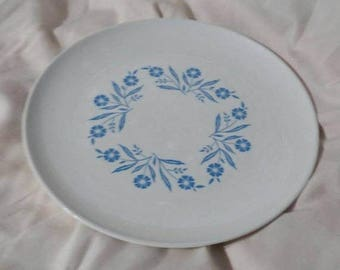 On Sale Vintage Kitchen Centura Blue Cornflower 8.5 inch Luncheon Plate Replacement Dish by Corning