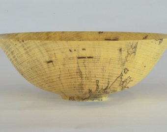 "9 1/4"" Spalted Hackberry Wooden Bowl"