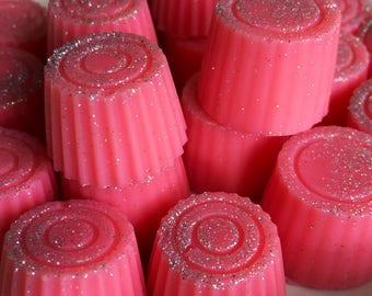 Pink lemonade scented soy wax melts handmade